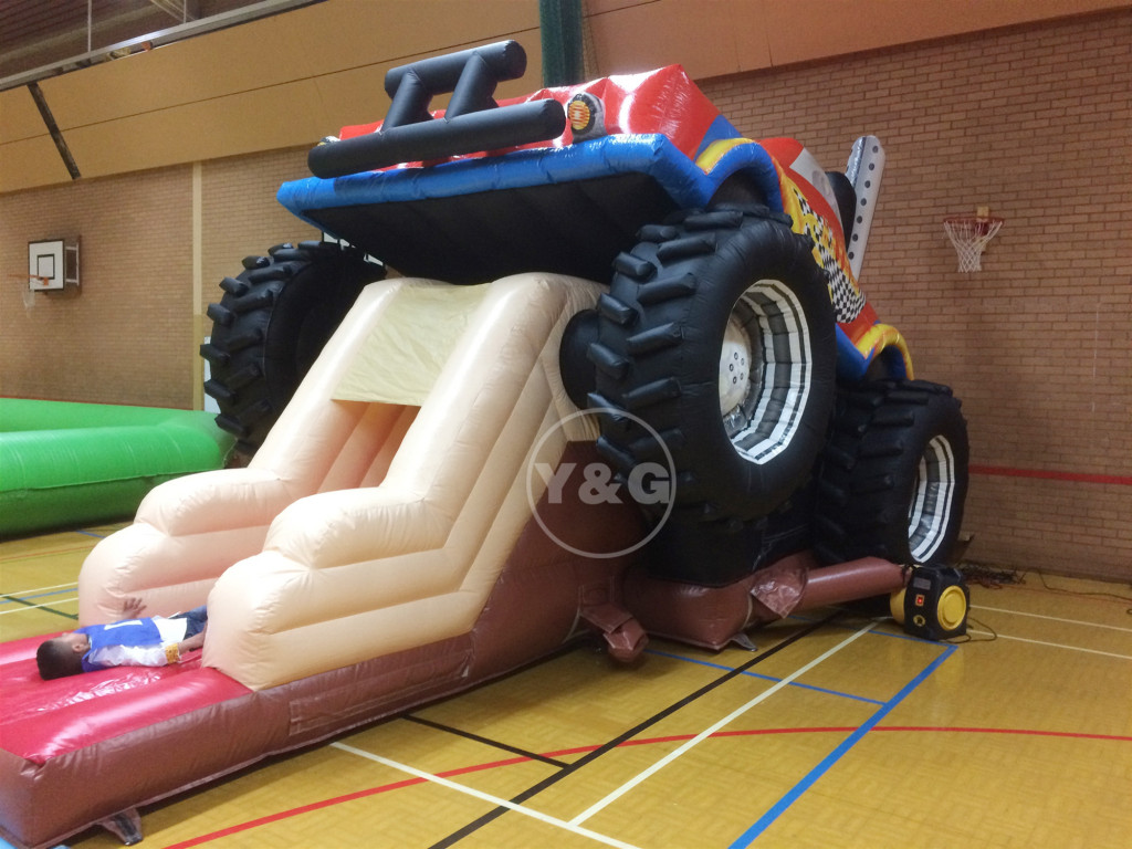 Best Monster truck theme bounce house and slides collection