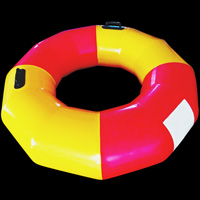Red and yellow inflatable swim ringGW149