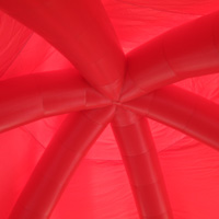 red inflatable tentGN095