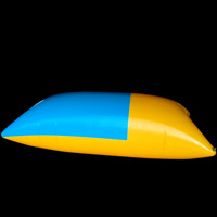 Yellow and blue inflatable springboardGW141
