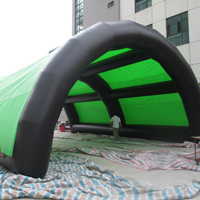 Green and black arch inflatable tentGN101