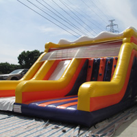inflatable climbing slideGI155