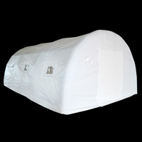 White outdoor inflatable tentGN078