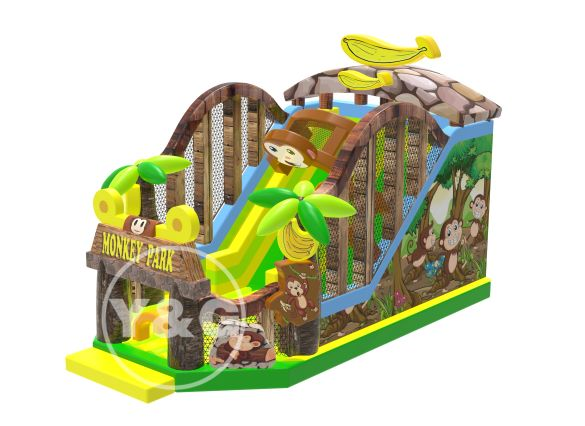 Monkeey house inflatable slides YG-039