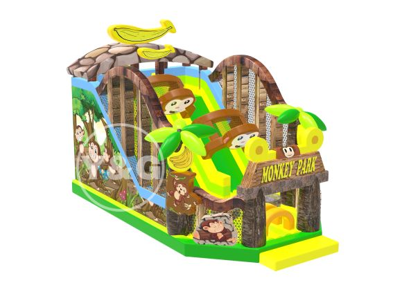 Monkeey house inflatable slidesYG-039