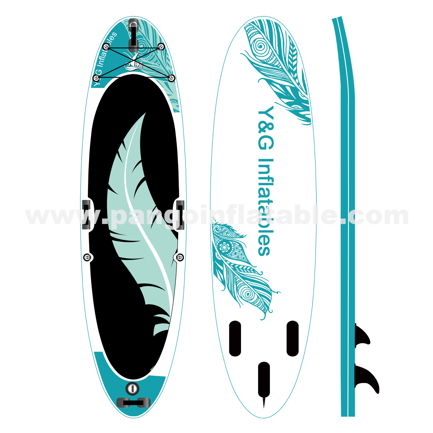 Cyan Flight Feathers Inflatable SupYG-023