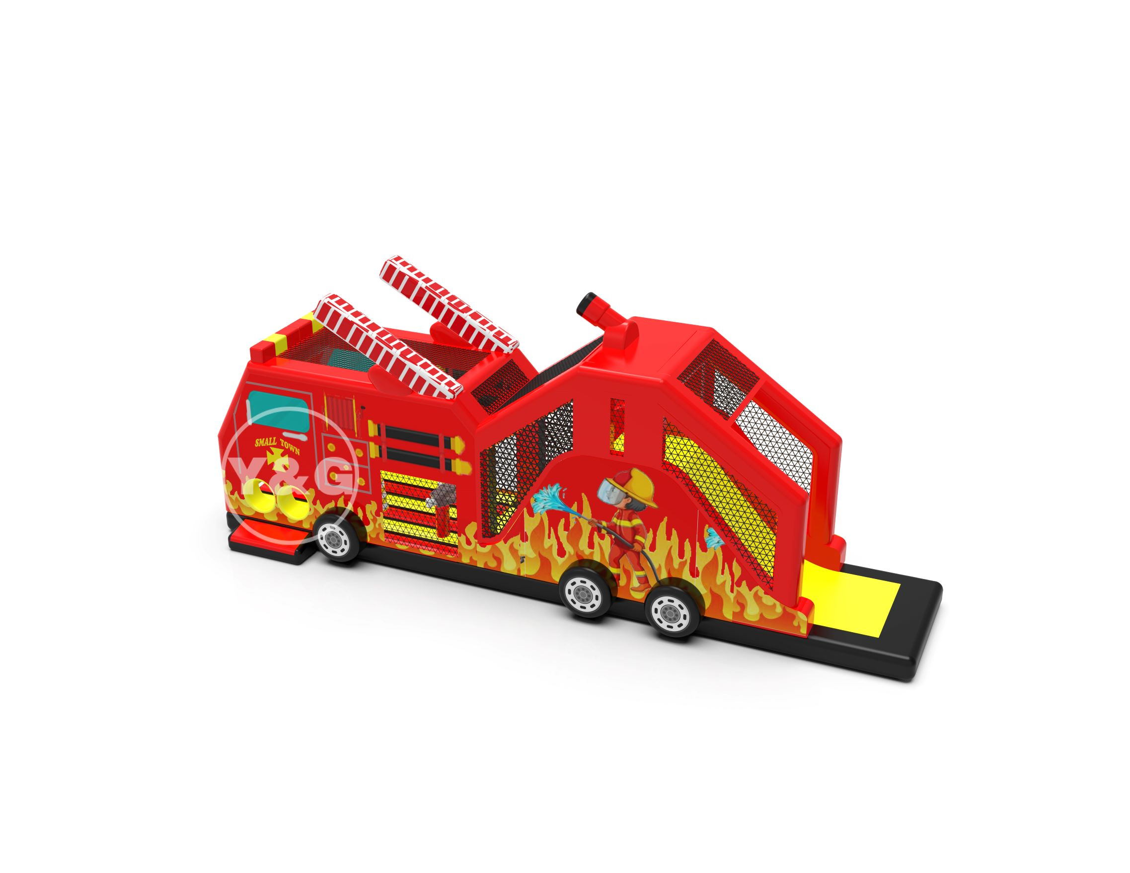 Fire Truck Inflatable Games-Pango Inflatable Co , Ltd