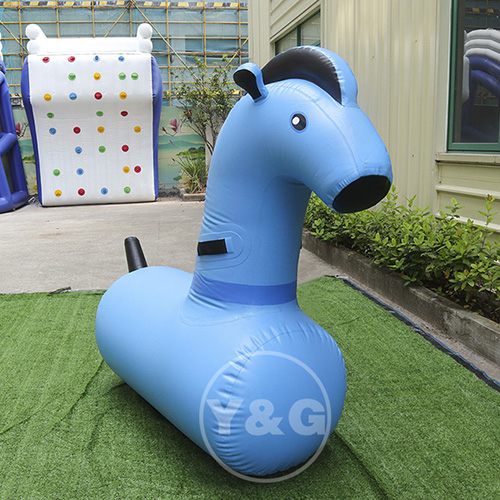 Inflatable Horse Riding Game PonyAKD115-Blue