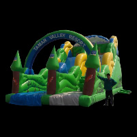 Green Inflatable SlideGI129