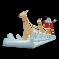 Deer And Santa Inflatable ToyGM009